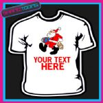 PERSONALISED SANTA CLAUS CHRISTMAS TSHIRT CHILDRENS MENS & LADIES SIZES - 160883635924